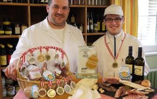 Rene und Gerharnd  Medaillenregen